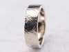 Unisex White Gold Brushed Finish Band
