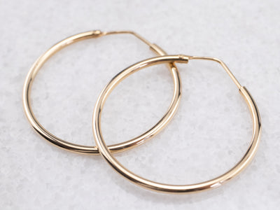 18K Yellow Gold Hoop Earrings