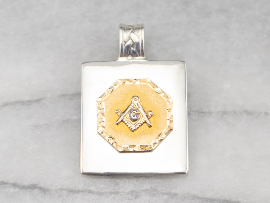 Silver and Gold Masonic Pendant