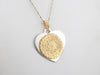 Ornate Silver and Gold Mix Metal Pendant