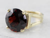 High Profile Garnet Gold Statement Ring