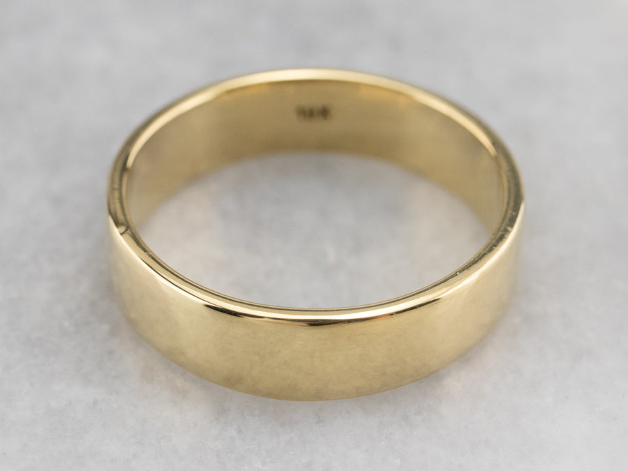 18K Gold Plain Wedding Band