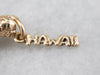 14K Gold Dancing Hula Girl Hawaii Charm