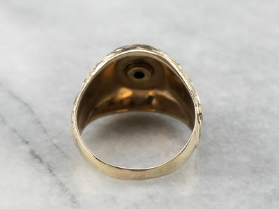 Marines Two Tone Gold Military Signet Ring