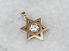 Star of David Diamond Gold Pendant