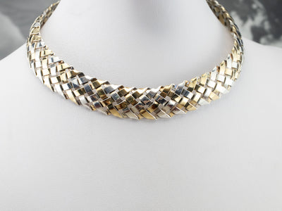 Vintage Mixed Metal Collar Necklace