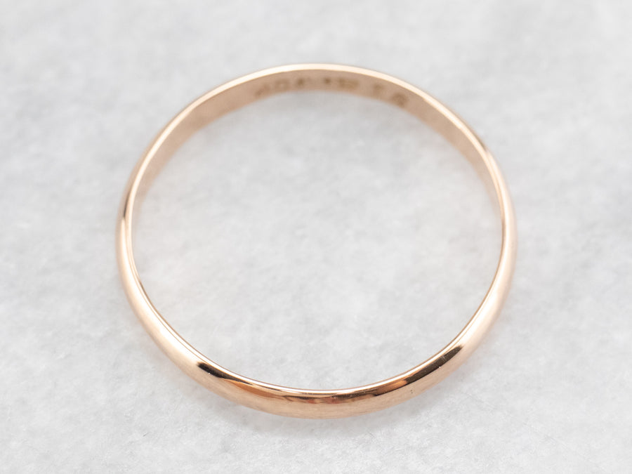 Thin Rose Gold Band