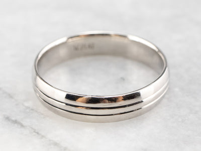 Minimalist Platinum Band