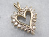 Champagne Diamond Heart Halo Pendant