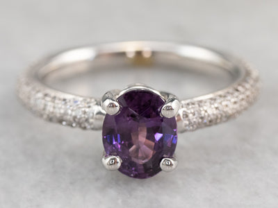 Bi-Colored Sapphire and Diamond Ring