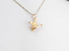 Vintage 14K Gold Flying Duck Charm
