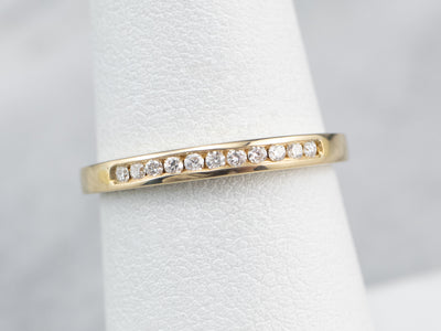 Thin Channel Set Diamond Band