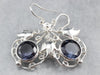 Sterling Silver Synthetic Alexandrite Drop Earrings