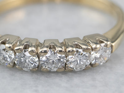 Vintage Two Tone Gold Diamond Band
