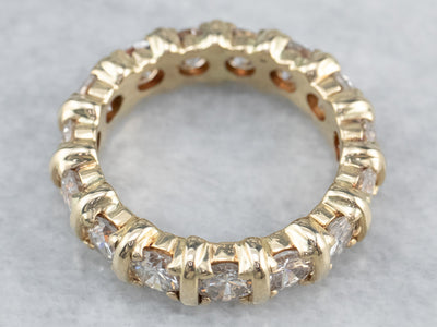Gold Bar Set Diamond Eternity Band