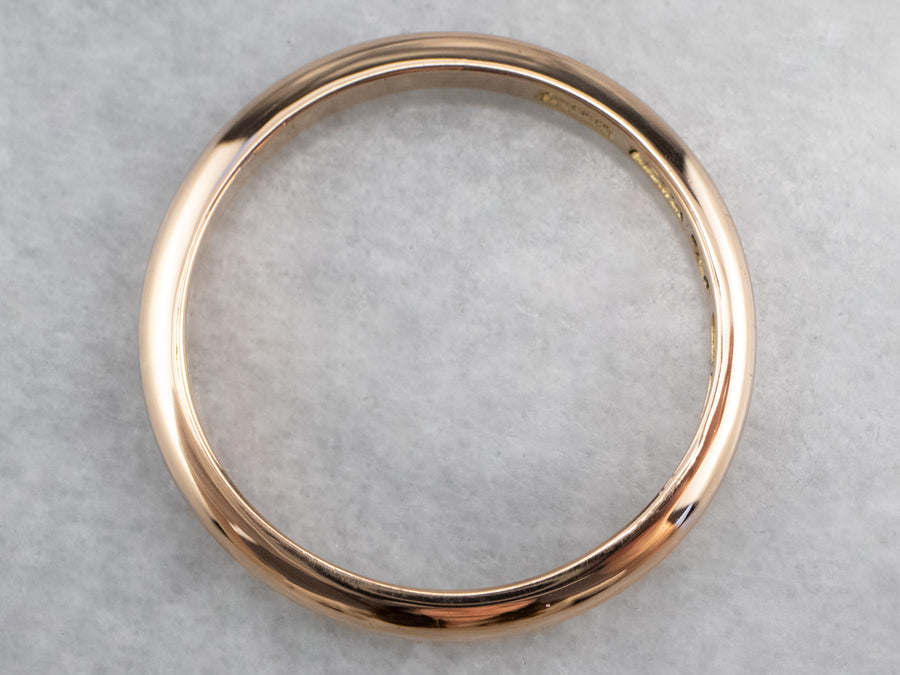 Large 18K Rose Gold Band