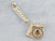 Antique Sapphire Seed Pearl Gold Lavalier Pendant