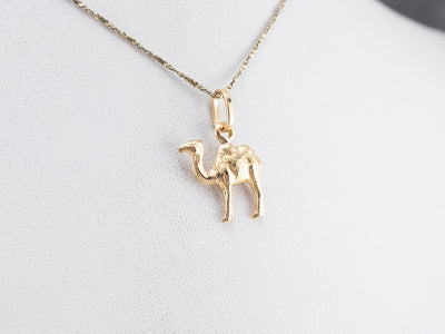 18K Gold Detailed Camel Charm
