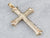 14K Gold Engraved Cross Pendant