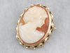 Retro Cameo Gold Brooch Pendant