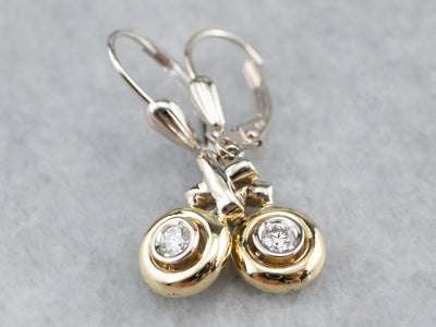 Diamond XO Gold Drop Earrings