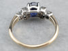 Sapphire Diamond Platinum Gold Engagement Ring