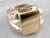 Retro Men's Gold Signet Ring