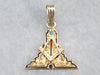 Antique Masonic Enamel and Gold Pendant