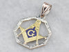 Enamel Masonic Tri Color Gold Medal Pendant