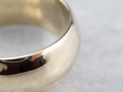 Wide Plain Gold Wedding Band Ring