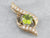 Peridot Diamond Gold Pendant