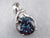 Synthetic Alexandrite Diamond White Gold Pendant