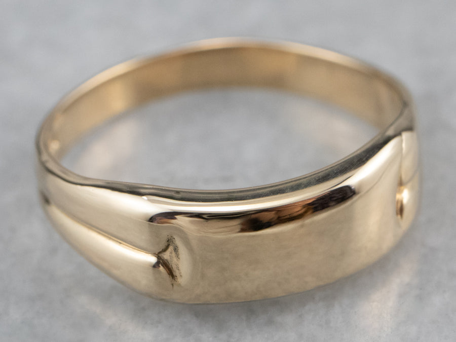 Gold Signet Band Ring