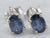 Sapphire Diamond White Gold Stud Earrings