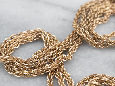 Antique Three Strand Chain Gold Necklace
