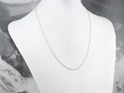 Vintage 10K White Gold Cable Chain