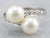 Retro Double Pearl and Diamond Bypass Ring