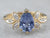 Pear Cut Sapphire Diamond Gold Engagement Ring