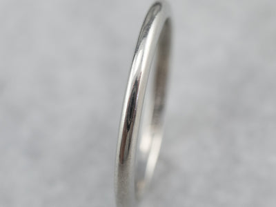 Vintage Platinum Plain Wedding Band