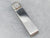 Diamond Sterling Silver Tie Bar