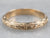 Floral Patterned Gold Wedding Band