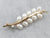 Pearl Diamond Gold Branch Brooch