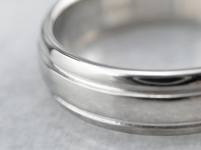 Scott Kay Plain Platinum Wedding Band