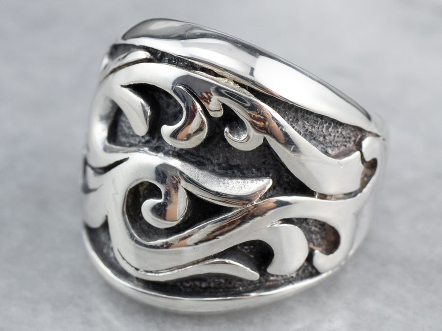 Ornate Sterling Silver Ring