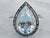 Silver Blue Topaz and Diamond Halo Ring