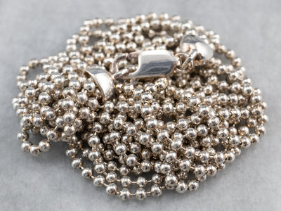 Sterling Silver Beaded Ball Chain