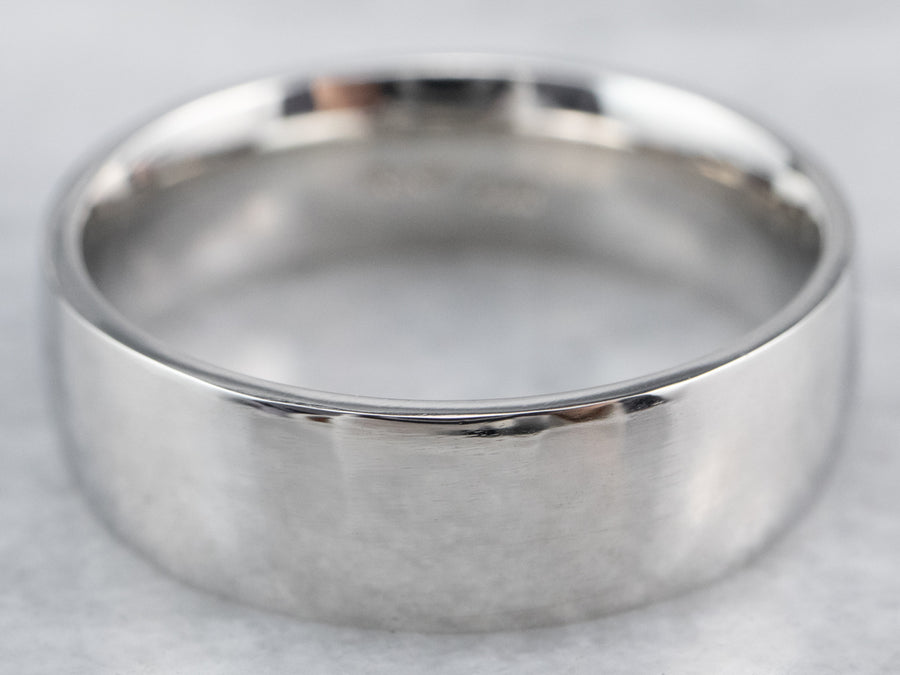 Heavy Platinum Plain Comfort Fit Wedding Band