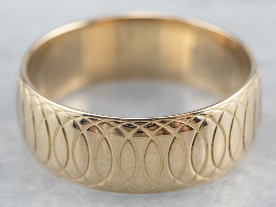 Vintage Gold Looping Pattern Band