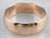 Vintage Russian Rose Gold Wedding Band