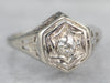 Art Deco Old Mine Cut Diamond Ring